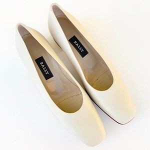 BALLY Off White Leather Shoes New